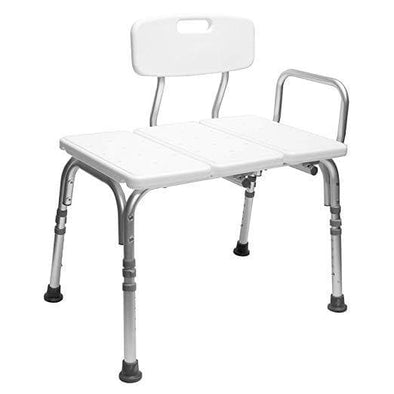 Carex Bathtub Transfer Bench with Height Adjustable Legs - Convertible to Right or Left Hand Entry - Senior.com Transfer Equipment