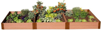 "Frame It All Classic Sienna Raised Garden Bed with 1"" Profile - Senior.com Raised Gardens"