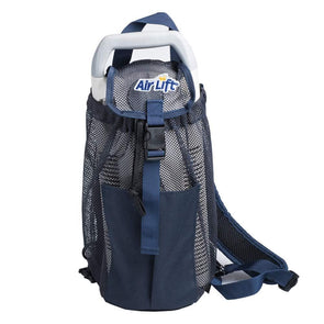 "Air Lift Backpack for Small Liquid Portables - 12"" x 6"" X 2"" Navy Blue - Senior.com Oxygen Bags"
