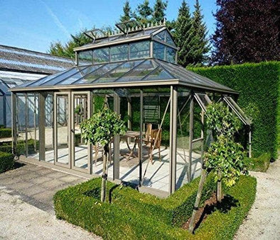 Exaco Cathedral Victorian Greenhouse with Large Cupola - 300 sq ft - Senior.com Greenhouses