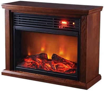 Sunheat Thermal Wave Dark Oak Infrared Electric Portable Fireplace - Senior.com Heaters & Fireplaces