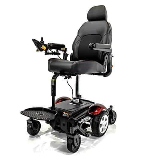 Merits Vision Sport Lift Mid Wheel Drive Electric Powerchair with Power Elevating Seat - Senior.com Power Chairs