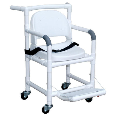 MJM International PVC Geri Transfer Chair with Safety Belt - Senior.com PVC Shower Chairs