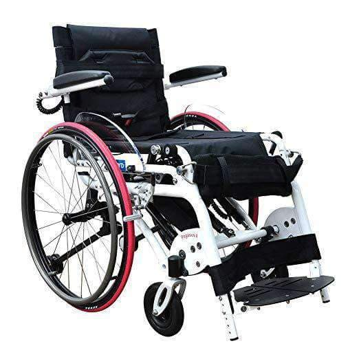 Foldawheel Pegasus II Lightest Standing Semi Powered Portable Wheelchair - Only Weighs 77 lbs - Senior.com Power Chairs