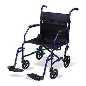 Carex Lightweight Transport Foldable Wheelchair with Footrests - Senior.com Transport Chairs
