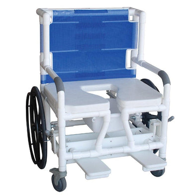 "MJM International Bariatric Self Propelled 26"" Transport Chair - Royal Blue - Senior.com Transport Chairs"