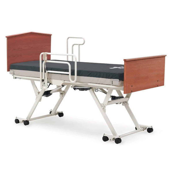 Invacare Carroll CS5 Hi-Low Hospital Bed Set w/Bed Sore Prevention Mattress and Half Rails - Senior.com Bed Packages