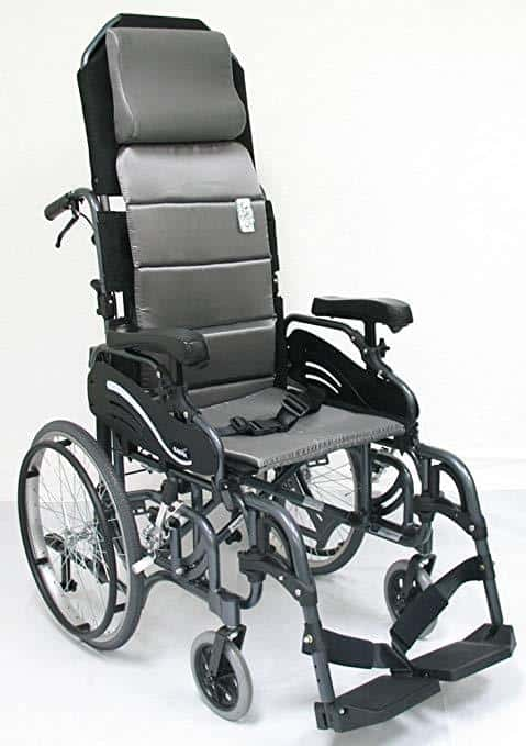 Karman Foldable Tilt in Space Wheelchairs - Diamond Black with 20 Inches Rear Wheels - Senior.com Wheelchairs