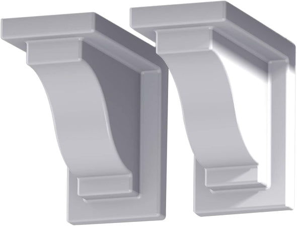 Mayne Yorkshire 2-Pack Hanging Basket Planter Decorative Brackets - White - Senior.com Planter Brackets