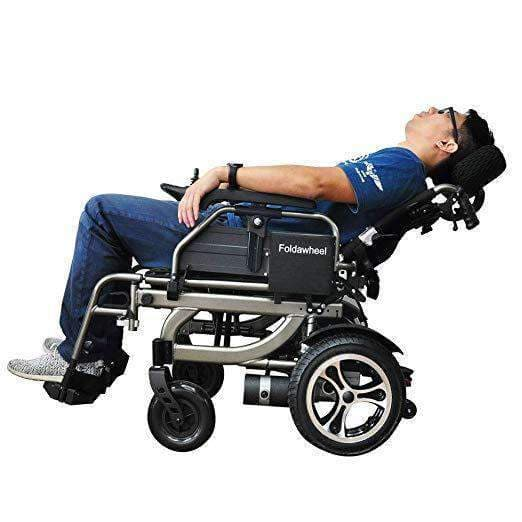 Foldawheel Diverse Lightweight Reclinable Power Wheelchair with 10 Mile Range - Senior.com Power Chairs