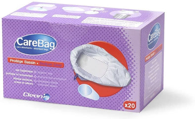 Cleanis Carebag Bedpan Liner with Super Absorbent Pad - 20 Count - Senior.com Bedpan Liners