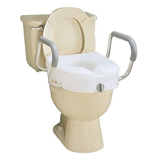 Peachy Carex E Z Lock Raised Toilet Seat With Handles 5 Inch Toilet Seat Riser With Arms Short Links Chair Design For Home Short Linksinfo