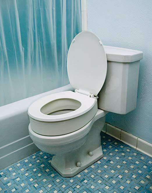Essential Medical Supply Hinged Toilet Seat Risers - Senior.com Raised Toilet Seats