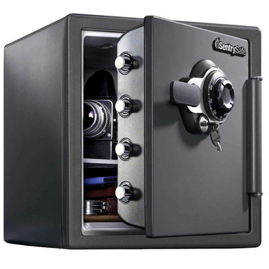 SentrySafe Fireproof and Waterproof Safe with Dial Combination - 1.23 Cubic Feet - Senior.com Security Safes