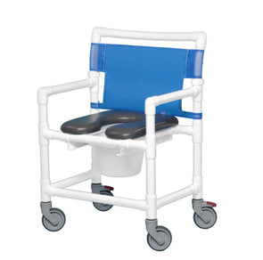 IPU Oversize Bariatric Extra Wide Rolling PVC Shower Chair Commode - Senior.com PVC Shower Chairs