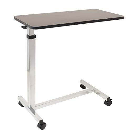 Roscoe Medical Non-Tilt Overbed Table with Wheels - 15 x 30 inches Height Adjustable - Senior.com Overbed Tables
