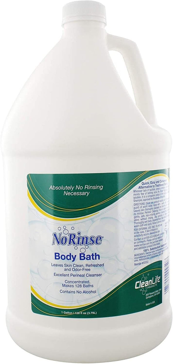 Clean Life No Rinse Body Bath - Complete Bath with No Rinsing Necessary - Senior.com Body Wash