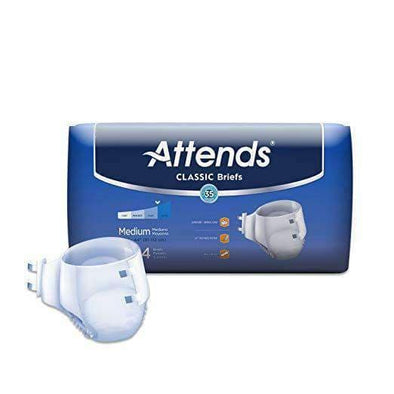 Attends Unisex Classic Briefs with Dry-Lock Technology for Adult Incontinence Care-Case - Senior.com Incontinence