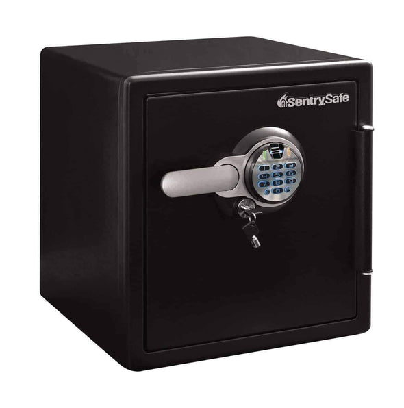 SentrySafe Extra Large Biometric Fingerprint Fire and Water Safe with Dual Key Lock - 1.23 Cubic Feet - Senior.com Security Safes