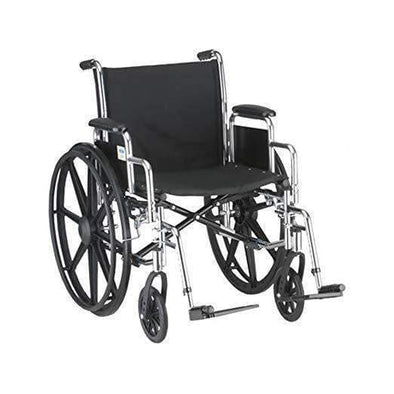Nova Medical Steel Mobility Standard Wheelchairs with Detachable Arms & Swing Away Footrests - Senior.com Wheelchairs