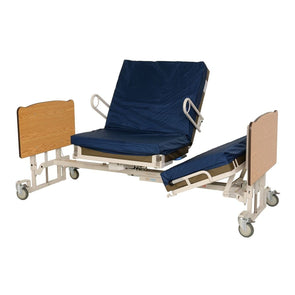 Med-Mizer Stand Assist Pivot Turn Adjustable Bed Package - Includes Mattress and Side Rails - Senior.com Bed Packages