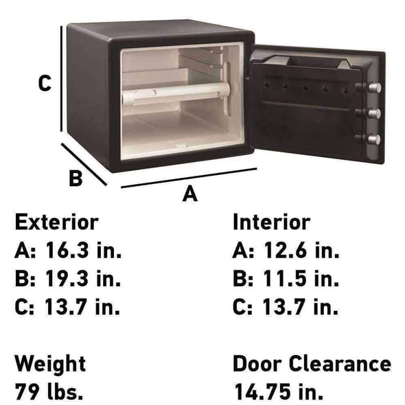 Sentry Safe Fire and Water Large Combination Safe - 0.8 Cubic Feet - Senior.com Security Safes