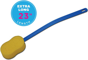 "Nova Medical Extra Long 23"" Bath and Back Sponge with Flexible Handle - Senior.com Bathing Tools"