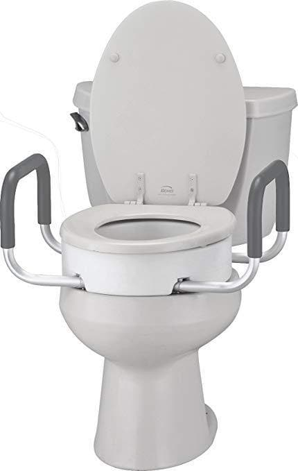 Nova Medical Toilet Seat Risers with Arms - Adds 3.5 Inches - Senior.com Raised Toilet Seats