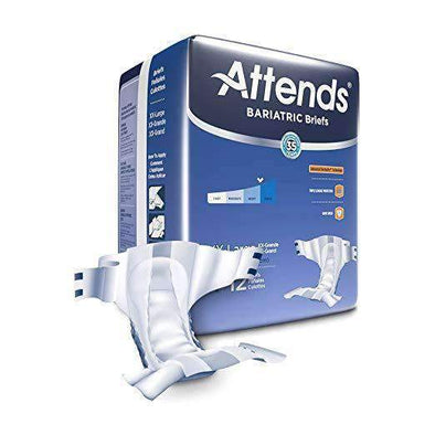 Attends Unisex Bariatric Briefs with Advanced DermaDry Technology for Adult Incontinence Care-Case - Senior.com Incontinence