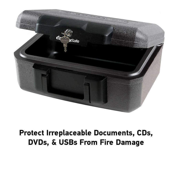 SentrySafe Fireproof Security Box with Key Lock - Senior.com Portable Safes