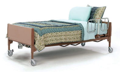 Invacare Bariatric Full Electric Homecare Bed Package with Soft Foam Mattress & Half Rails - Senior.com Bed Packages