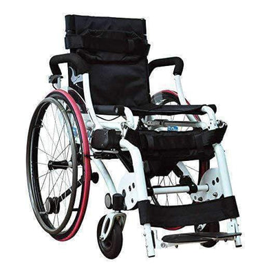 Foldawheel Leo II Lightest Manual Standing Power Wheelchairs - Weighs Only 59 Lbs - Senior.com Wheelchairs