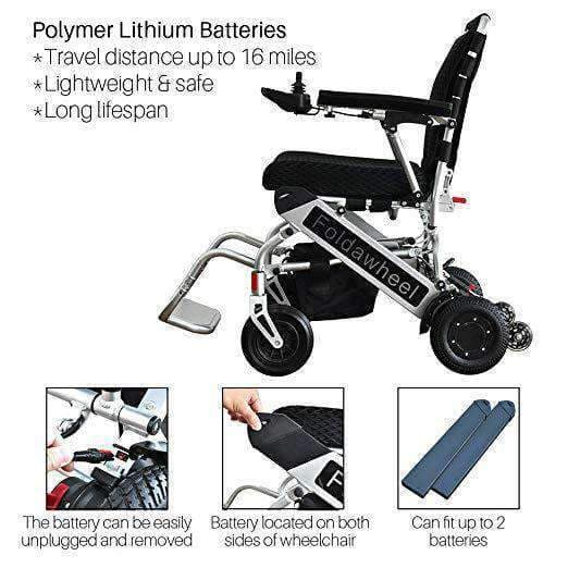 Foldawheel Electric Extreme Lightweight Folding Power Chair - Only 46 lbs - Senior.com Wheelchairs