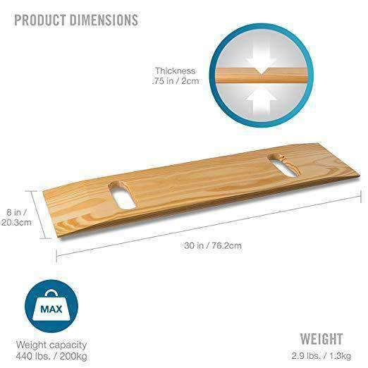 DMI Deluxe Solid Wood Bariatric Patient Transfer Boards - Senior.com Transfer Equipment