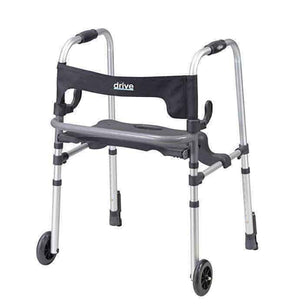 Drive Medical Clever-Lite LS Rollator Walker with Seat and Push Down Brakes - Senior.com walkers