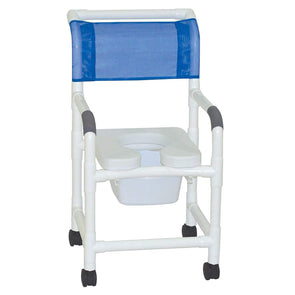 MJM International Standard Shower Chair with Soft Seat and Elongated Commode - Senior.com Shower Chairs