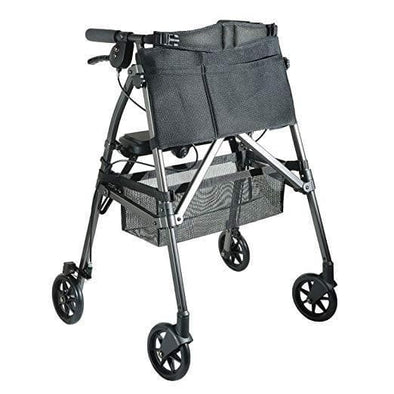 "Stander EZ Fold-N-Go Rollator – Lightweight Folding Travel Walker Rollator with 6"" Swivel Wheels - Senior.com Rollators"