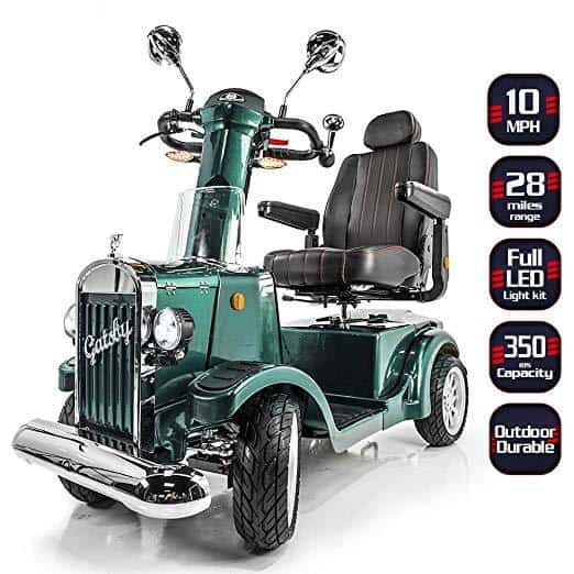 Gatsby X Vintage Heavy Duty Long Range Mobility Scooters - 35 Miles Per Charge - Senior.com Scooters
