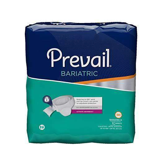 Prevail Unisex Bariatric Incontinence Adult Briefs with Breathable Zones - Senior.com Incontinence