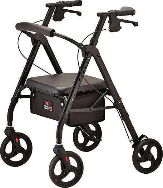 Nova Medical Star 6 Lightweight Rollators with Quick-Fit Push-Button - Senior.com Rollators