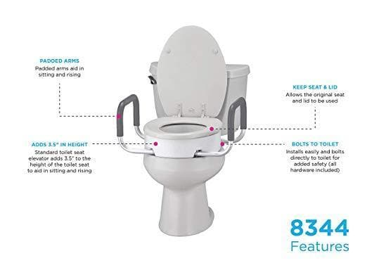 Wondrous Nova Medical Toilet Seat Risers With Arms Adds 3 5 Inches Cjindustries Chair Design For Home Cjindustriesco
