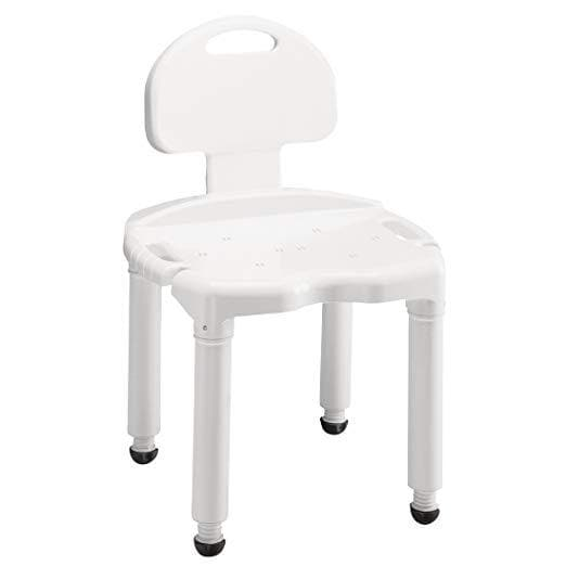 Carex Bariatric Bath Seat And Shower Chair With Back and Anti-Slip Feet - Senior.com Bath Benches & Seats