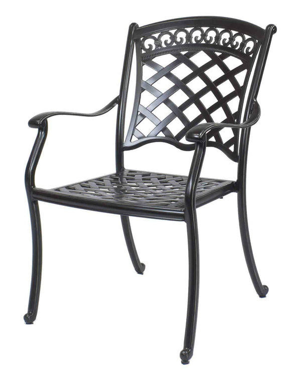 Summerset Casual St. Tropez Aluminum Round Patio Dining Set - 5 Piece - Senior.com Patio Furniture