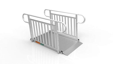 EZ-ACCESS Gateway 3G Portable Solid Surface Mobility Ramps with Vertical Picket Handrails - Senior.com Mobility Ramps