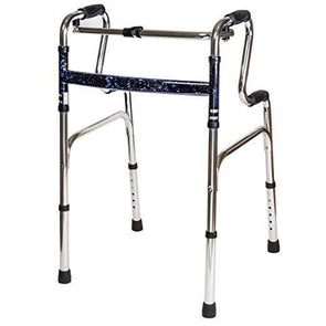 Carex Sturdy Uplift Adjustable Walker - 6lb Adult Medical Walkers - Upright Walker Folds For Easy Storage & Transport