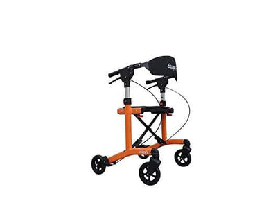 "Triumph Mobility Escape Mini Rollator-Low 20"" Seat-Orange - Senior.com Junior Rollators"
