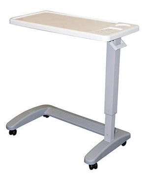 Carex Overbed Table - Rolling Bed Table and Desk with Adjustable Height - Senior.com Overbed Tables