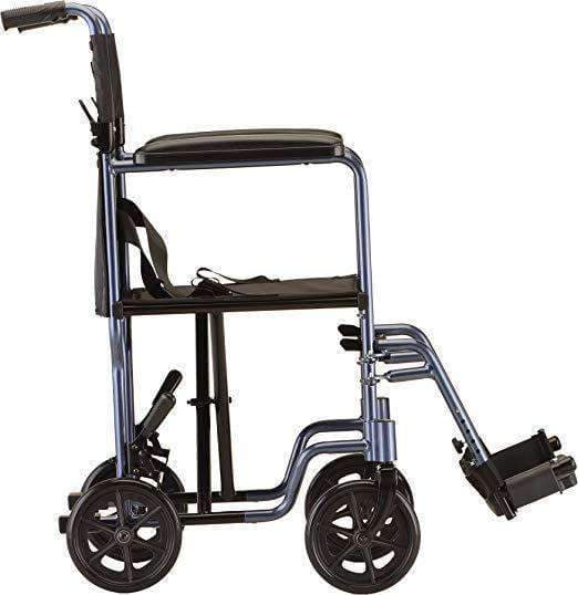"Nova Medical Lightweight Steel 17"" Folding Transport Chairs - Senior.com Transport Chairs"