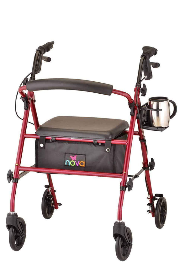 Nova Medical Universal Foldable Cup Holder for Mobility Aids - Senior.com Cup Holders