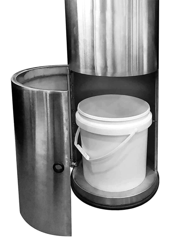 Germisept Stainless Steel Sanitizing Wipes Dispenser with Built-in Trash Can - Senior.com Trash Cans